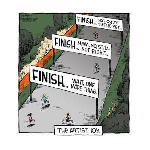 Speed Bump™ - The Artist 10k. Finish … Wait, one more thing. Finish … Hmm,  by Dave Coverly