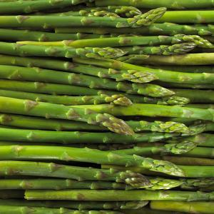 Green Asparagus Spears by Dave King