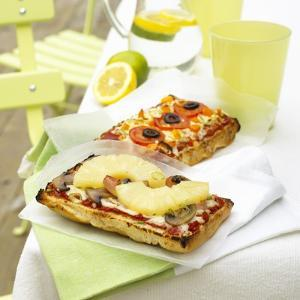 Two Different Focaccia Pizzas by Dave King