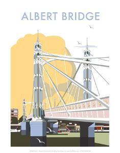 Albert Bridge - Dave Thompson Contemporary Travel Print by Dave Thompson