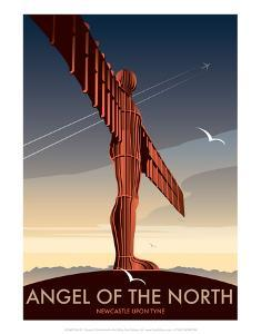 Angel of the North - Dave Thompson Contemporary Travel Print by Dave Thompson