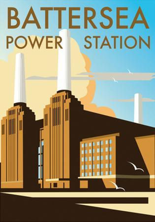 Battersea Power Station - Dave Thompson Contemporary Travel Print by Dave Thompson