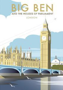 Big Ben - Dave Thompson Contemporary Travel Print by Dave Thompson
