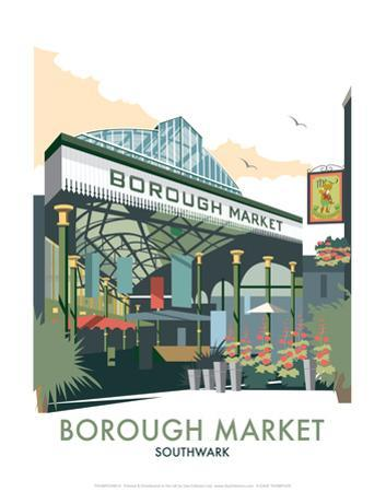 Borough Market - Dave Thompson Contemporary Travel Print by Dave Thompson