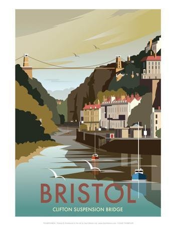 Bristol - Dave Thompson Contemporary Travel Print by Dave Thompson