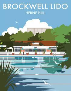 Brockwell Lido - Dave Thompson Contemporary Travel Print by Dave Thompson
