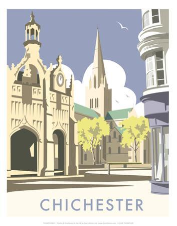 Chichester - Dave Thompson Contemporary Travel Print by Dave Thompson