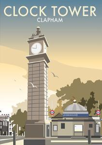 Clock Tower, Clapham - Dave Thompson Contemporary Travel Print by Dave Thompson