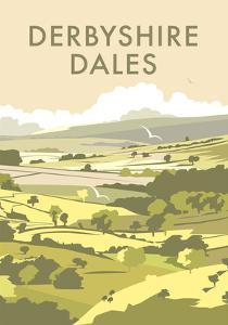 Derbyshire Dales - Dave Thompson Contemporary Travel Print by Dave Thompson