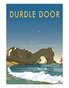 Durdle Door - Dave Thompson Contemporary Travel Print by Dave Thompson