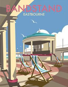 Eastbourne Bandstand - Dave Thompson Contemporary Travel Print by Dave Thompson