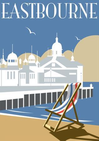 Eastbourne - Dave Thompson Contemporary Travel Print by Dave Thompson