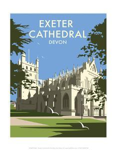 Exeter Cathedral - Dave Thompson Contemporary Travel Print by Dave Thompson