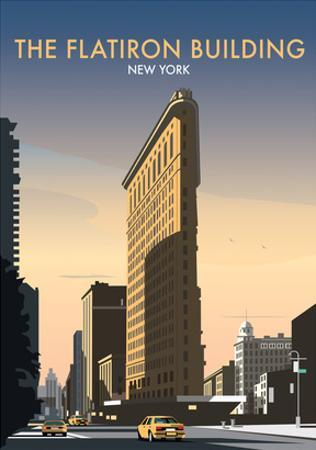 FlatIron Building - Dave Thompson Contemporary Travel Print by Dave Thompson