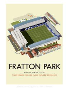 Fratton Park - Dave Thompson Contemporary Travel Print by Dave Thompson