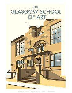 Glasgow School of Art - Dave Thompson Contemporary Travel Print by Dave Thompson