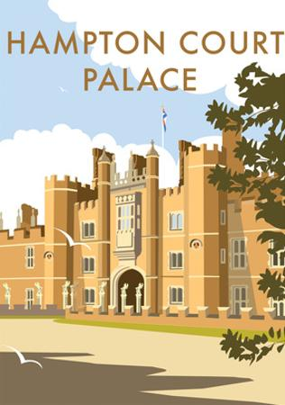 Hampton Court Palace - Dave Thompson Contemporary Travel Print by Dave Thompson