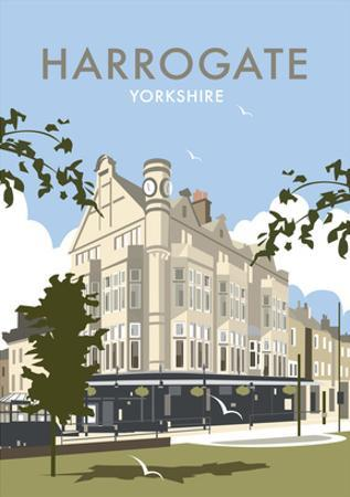 Harrogate - Dave Thompson Contemporary Travel Print by Dave Thompson
