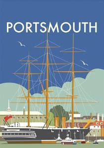 HMS Victory (Portsmouth) - Dave Thompson Contemporary Travel Print by Dave Thompson