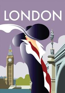 London - Dave Thompson Contemporary Travel Print by Dave Thompson