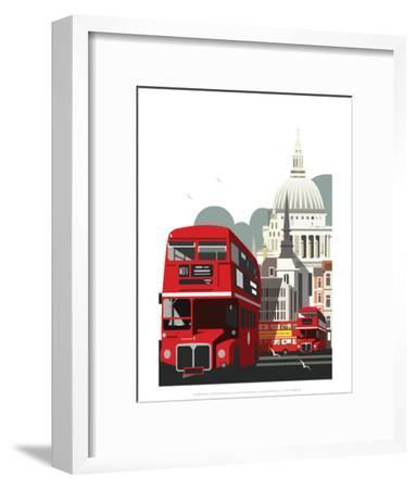 London Routemaster Blank - Dave Thompson Contemporary Travel Print