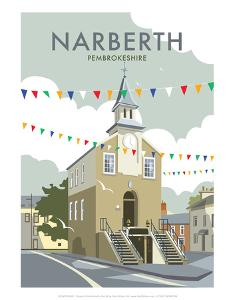 Narberth - Dave Thompson Contemporary Travel Print by Dave Thompson