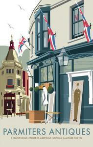 Parmiters Antiques - Dave Thompson Contemporary Travel Print by Dave Thompson