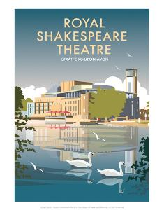 Royal Shakespeare Theatre - Dave Thompson Contemporary Travel Print by Dave Thompson