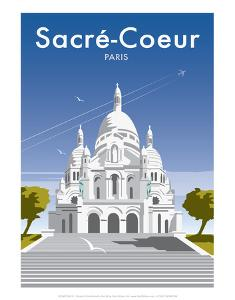 Sacre Coure - Dave Thompson Contemporary Travel Print by Dave Thompson