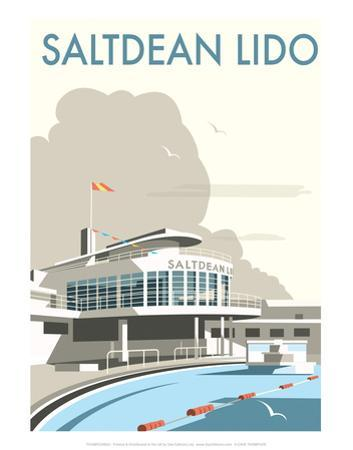 Saltdean Lido - Dave Thompson Contemporary Travel Print by Dave Thompson