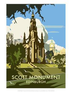 Scott Monument, Edinburgh - Dave Thompson Contemporary Travel Print by Dave Thompson
