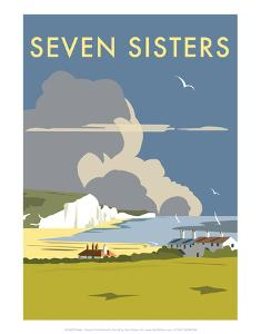 Seven Sisters - Dave Thompson Contemporary Travel Print by Dave Thompson