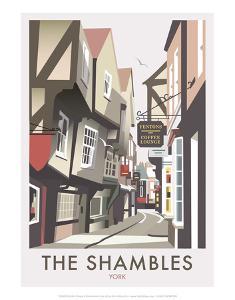 Shambles - Dave Thompson Contemporary Travel Print by Dave Thompson