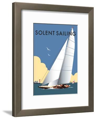 Solent Sailing - Dave Thompson Contemporary Travel Print