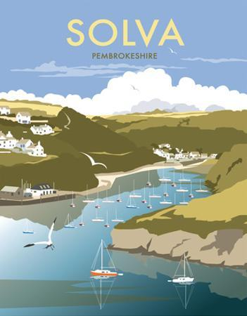 Solva - Dave Thompson Contemporary Travel Print by Dave Thompson
