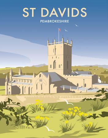 St Davids - Dave Thompson Contemporary Travel Print by Dave Thompson