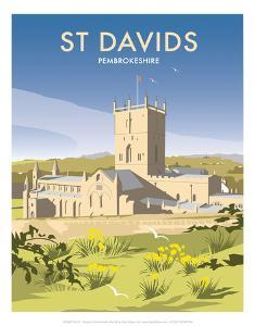 St Davids - Dave Thompson Contemporary Travel Print by Dave Thompson