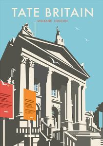 Tate Britain (Blue) - Dave Thompson Contemporary Travel Print by Dave Thompson