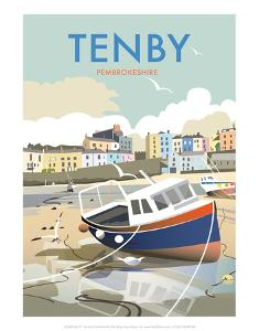 Tenby - Dave Thompson Contemporary Travel Print by Dave Thompson