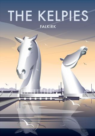 The Kelpies - Dave Thompson Contemporary Travel Print by Dave Thompson