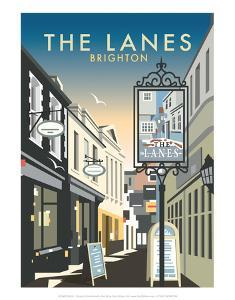 The Lanes, Brighton - Dave Thompson Contemporary Travel Print by Dave Thompson