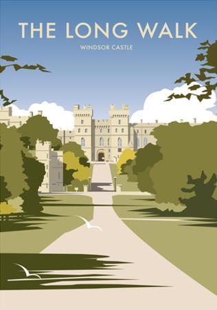 The Long Walk - Windsor Castle - Dave Thompson Contemporary Travel Print by Dave Thompson