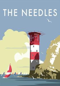 The Needles - Dave Thompson Contemporary Travel Print by Dave Thompson