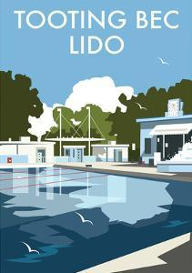 Tooting Bec Lido - Dave Thompson Contemporary Travel Print by Dave Thompson