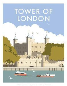 Tower of London - Dave Thompson Contemporary Travel Print by Dave Thompson