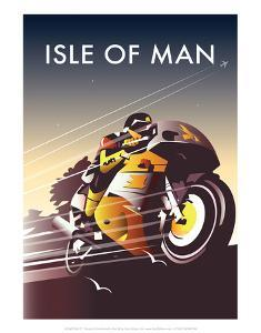 TT Racer - Dave Thompson Contemporary Travel Print by Dave Thompson