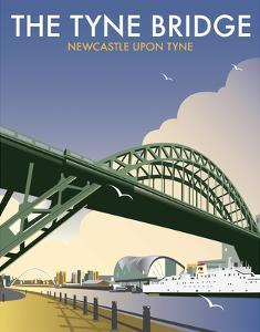 Tyne Bridge - Dave Thompson Contemporary Travel Print by Dave Thompson