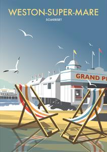 Weston Super Mare - Dave Thompson Contemporary Travel Print by Dave Thompson