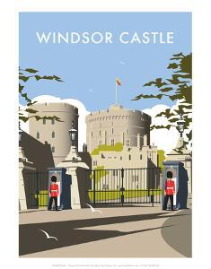 Windsor Castle - Dave Thompson Contemporary Travel Print by Dave Thompson