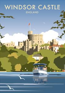Windsor Castle - England - Dave Thompson Contemporary Travel Print by Dave Thompson